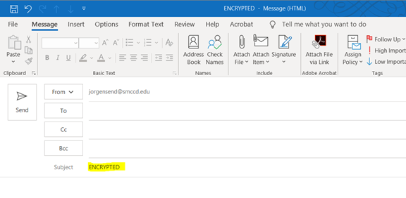 How to Encrypt Email in Outlook 2016 - Information ...